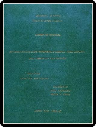 La mia tesi di Laura in Storia e Filosofia, 1968.