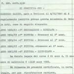Certificato scolastico di SABINO GESMUNDO